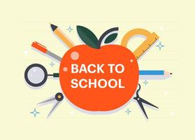 Piatto gratis Torna a scuola illustrazione vettoriale