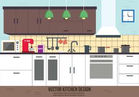 Disegno vettoriale di cucina