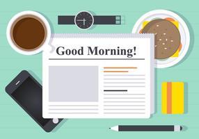 Illustrazione vettoriale di pausa caffè