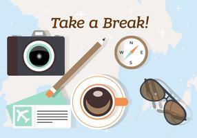 Prendi una pausa e illustrazione di viaggio vettore
