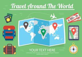 Disegno vettoriale gratuito di viaggio