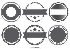 Forme Stempel distintivo vettoriale