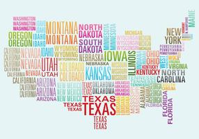 Mappa di Word USA vettore