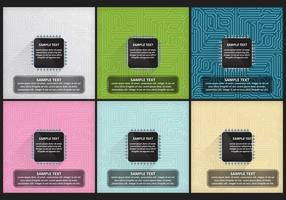 Modelli di microchip vettore