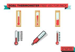 Confezione per vettore di termometro obiettivo