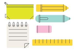 Vettore stilizzato della cassa di matita