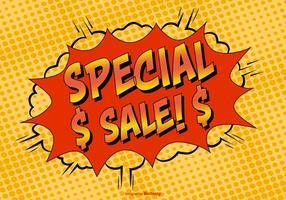 Illustrazione di vendita speciale di stile comico vettore
