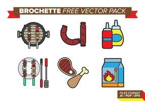 pacchetto di brochette vettoriali gratis