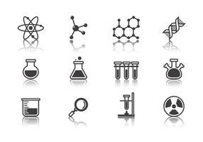 Vettore delle icone di scienza e laboratorio