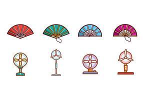 Ventilatori spagnoli gratuiti e vettore di ventilatori elettrici
