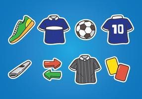 Icona di Doodle Futsal vettore