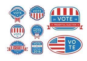 Pulsanti delle elezioni presidenziali USA 2016 vettore