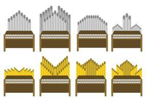 Set vettoriale gratuito di organi per pipa