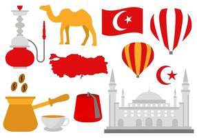 Vettore libero delle icone della Turchia