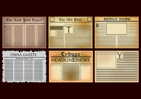 Vettore vecchio giornale gratuito
