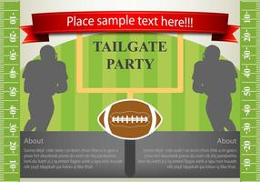 disegno vettoriale flyer tailgating