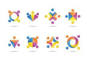 Lavorando insieme icone