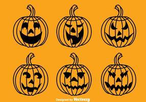 Vettore della raccolta della zucca di Halloween