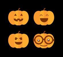 vettore piano della zucca di hallowen