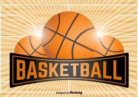 Modello emblema di pallacanestro - vettore