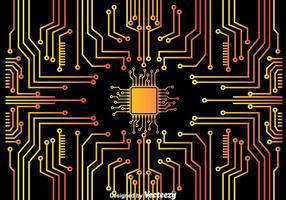 sfondo di microchip vettore