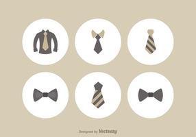 Set di icone vettoriali gratis cravatta