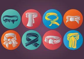 Cravatta gratis icone vettoriali