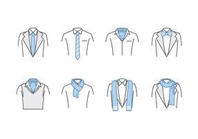 Vettore gratuito di cravatta e sciarpa