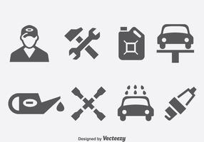 Vettore delle icone di riparazione dell'automobile