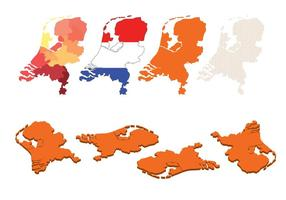 Set Mappa della Netherland vettore