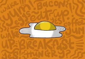 Vettore della prima colazione dell'uovo fritto