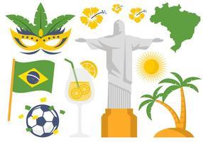 Vettore dell'icona e di simbolo dell'illustrazione del Brasile