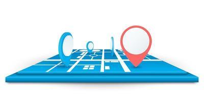 icone pin navigatore sulla mappa vettore