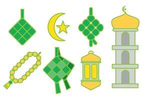 vettore ketupat ramadan