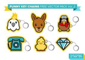 Portachiavi divertenti Free Vector Pack Vol. 2