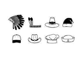 Vettore gratuito di cappelli
