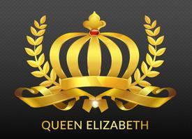 vettore corona reale d'oro