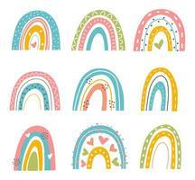set arcobaleno astratto