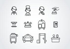 Icone del pittogramma di portineria vettore
