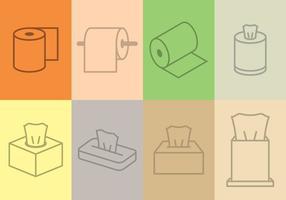 Set di icone del tessuto