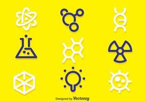 Vettore di simbolo di scienza