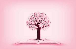 albero con foglie a forma di cuore
