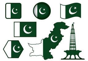 Vettore di bandiera del Pakistan