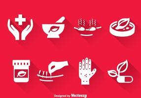 Vettore delle icone della medicina alternativa