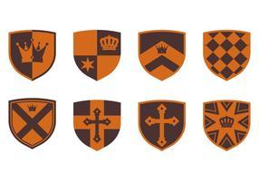 Blason medievale vettore