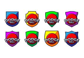 Dodge Ball Logo Vector gratuito
