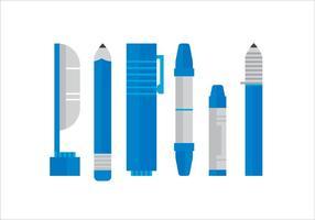 Penne di vettore blu