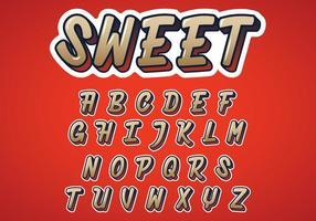 Vettore di alfabeto dolce