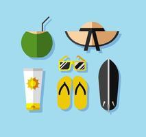 Spiaggia di vettore di vacanza