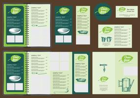Modelli di menu verdi vettore